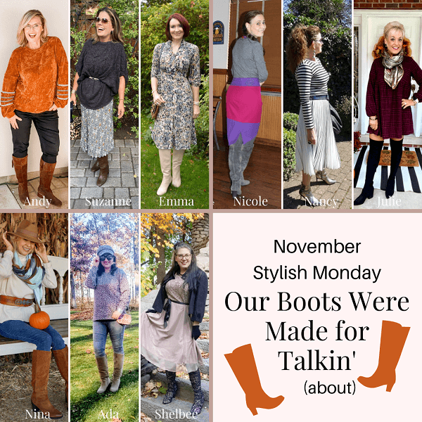 hostesses of the stylish Monday boot linkup party