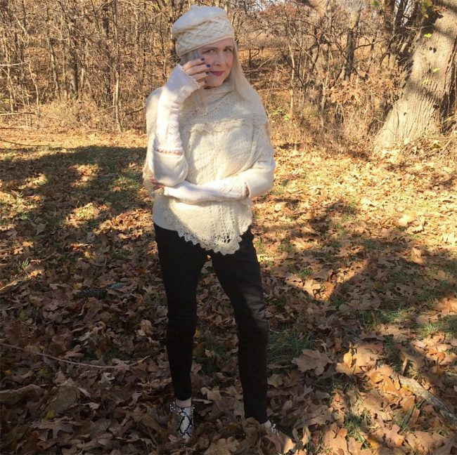 Terri Gardner in knit sweater as readers' Fav