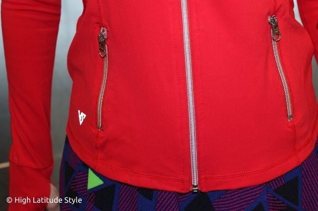 zipper decoration details
