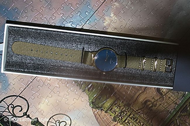 Native Nordgreen time piece in its box made of recycled material