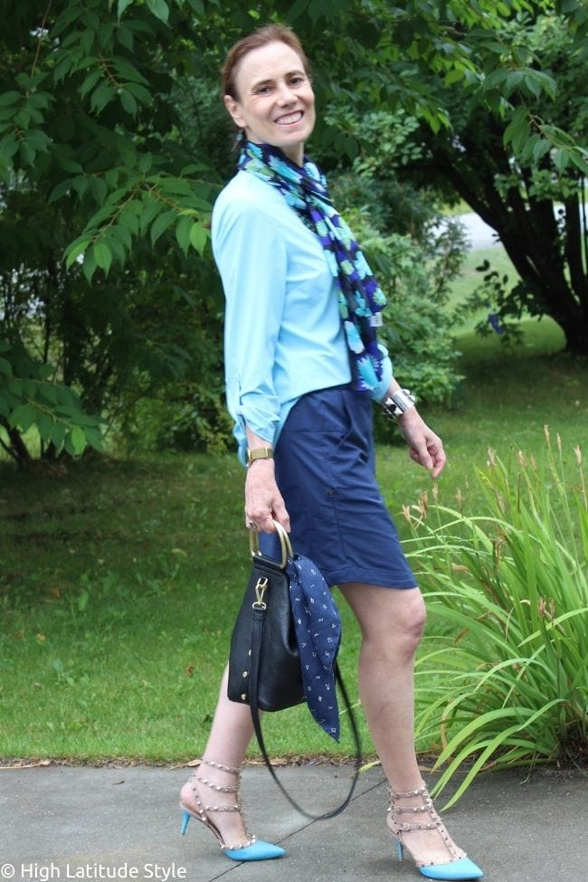 Coolibar sun protective skorts with shirt and scarf
