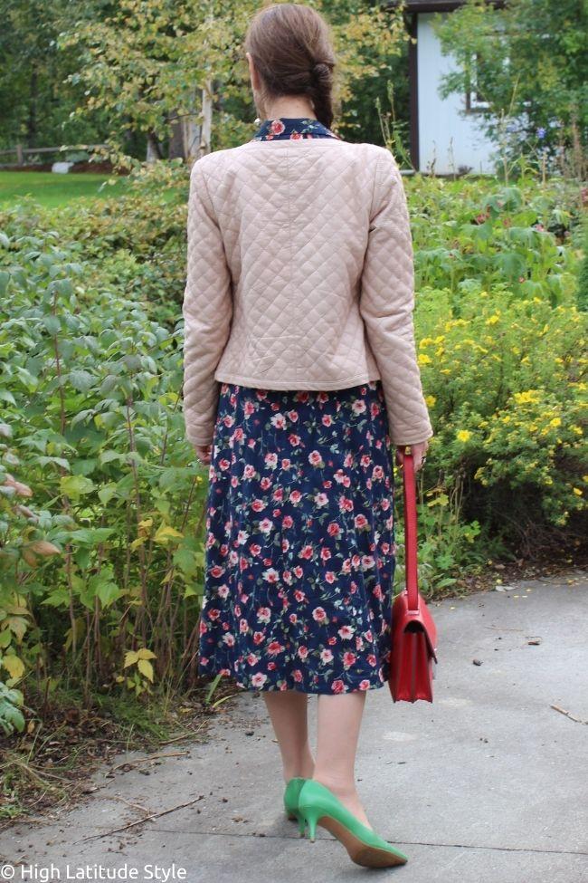 1940s floral print midi dress