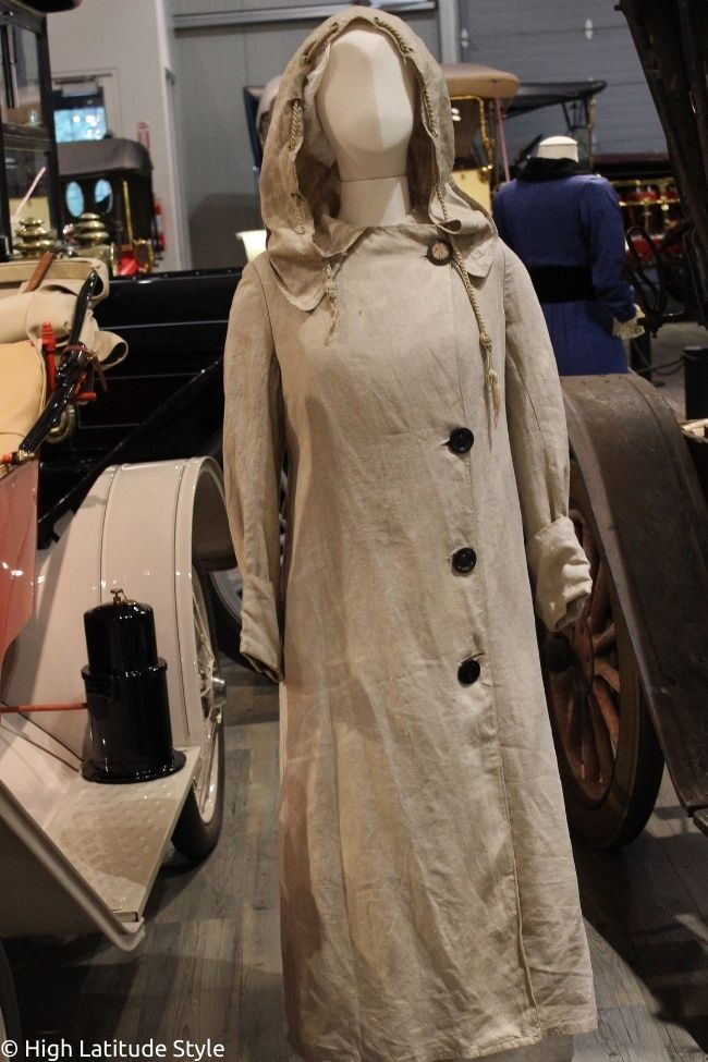 beige buttoned duster moor age fashion
