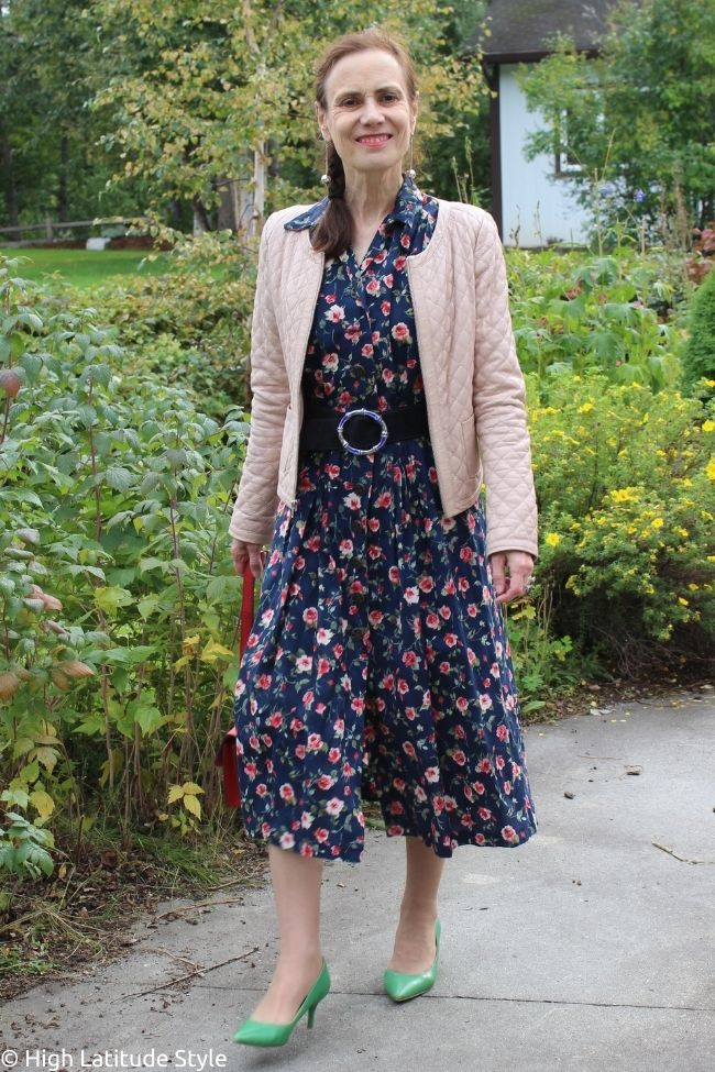 c lectic personal style dress, belt and jacket as one of the Casual Friday outfit ideas