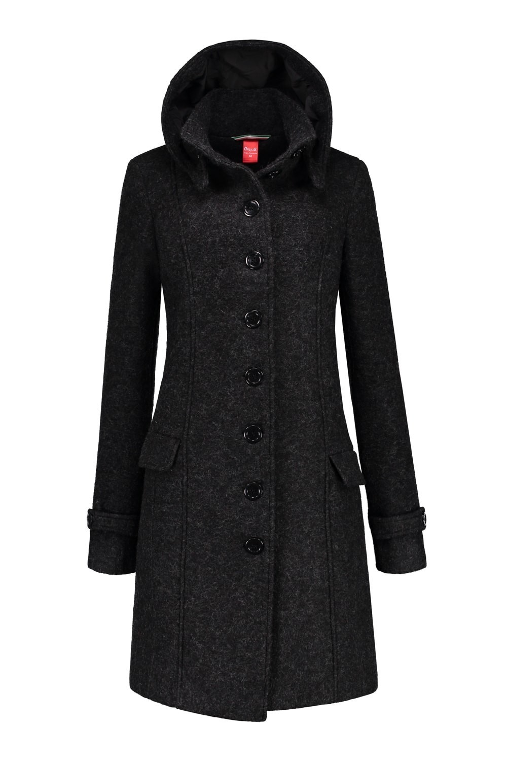 Damen Pullover Only Only M Winter Trenchcoat Anthrazit Extra Lang