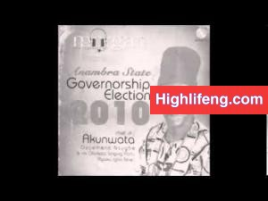 Chief Akunwata Ozoemena Nsugbe - Governorship Election 2010