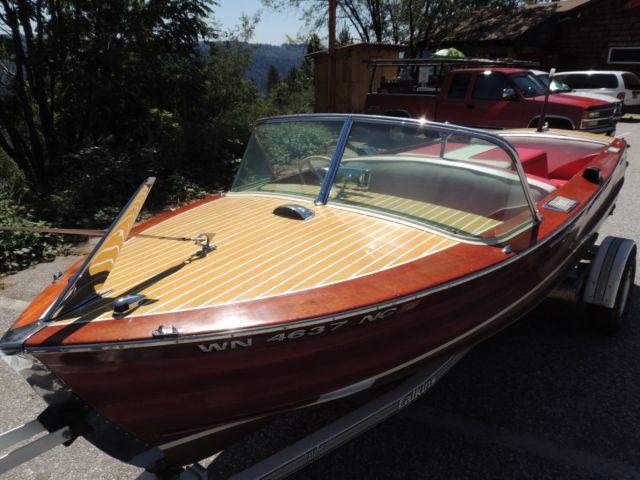 1959 Century Resorter 16 Wood Boat 312 Ford Entercepter