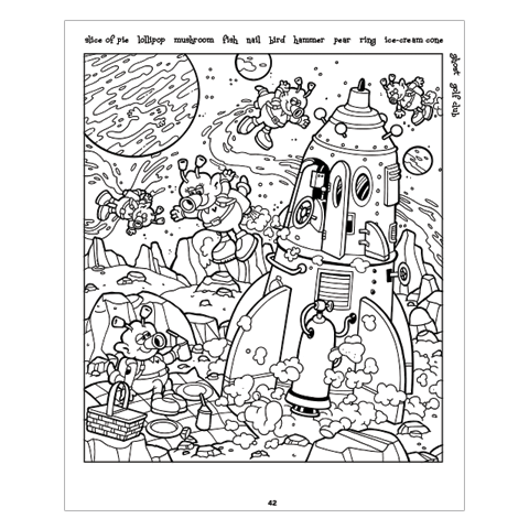 Highlights Hidden Pictures: A Coloring Book for Grown-Up