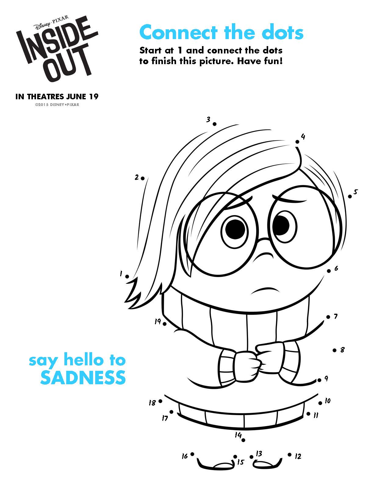 Disney Pixar Inside Out Free Printables