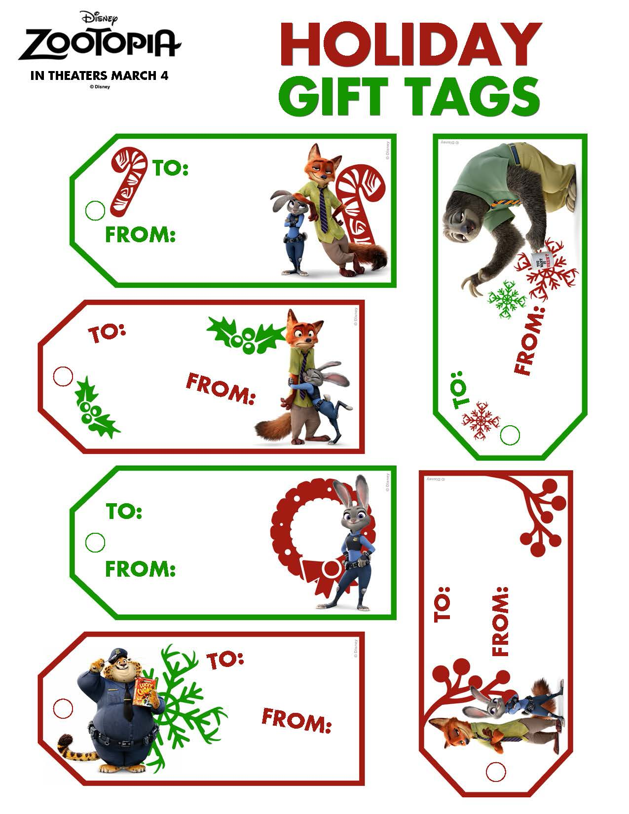 Flash Zootopia And Other Holiday Themed Printables From