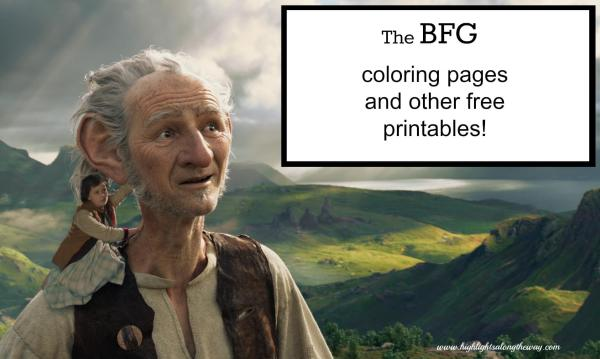 Bfg Coloring Pages And Free Printables