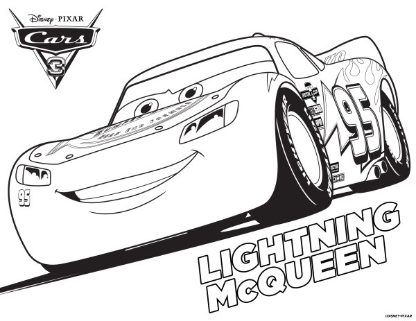 lightning mcqueen coloring pages free # 4