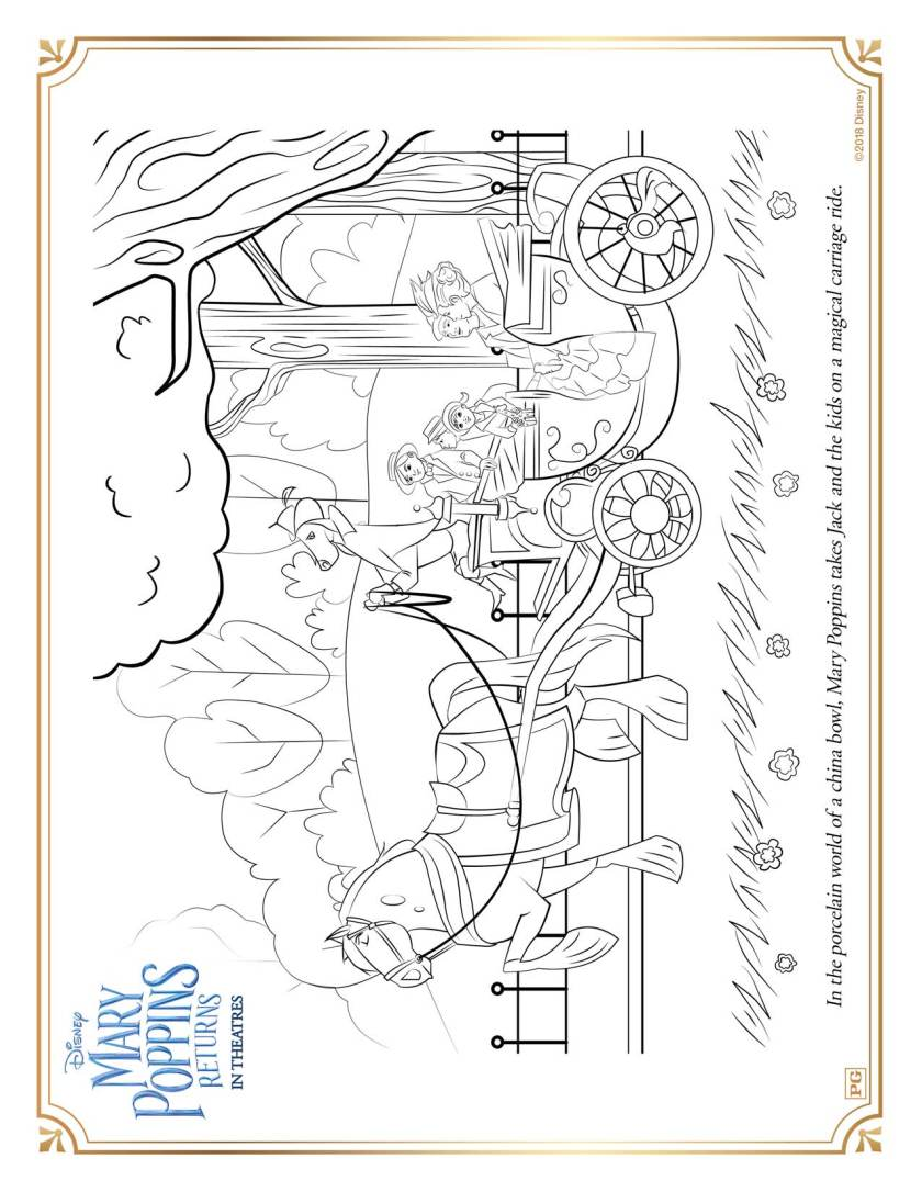 mary poppins returns printable coloring pages and activity