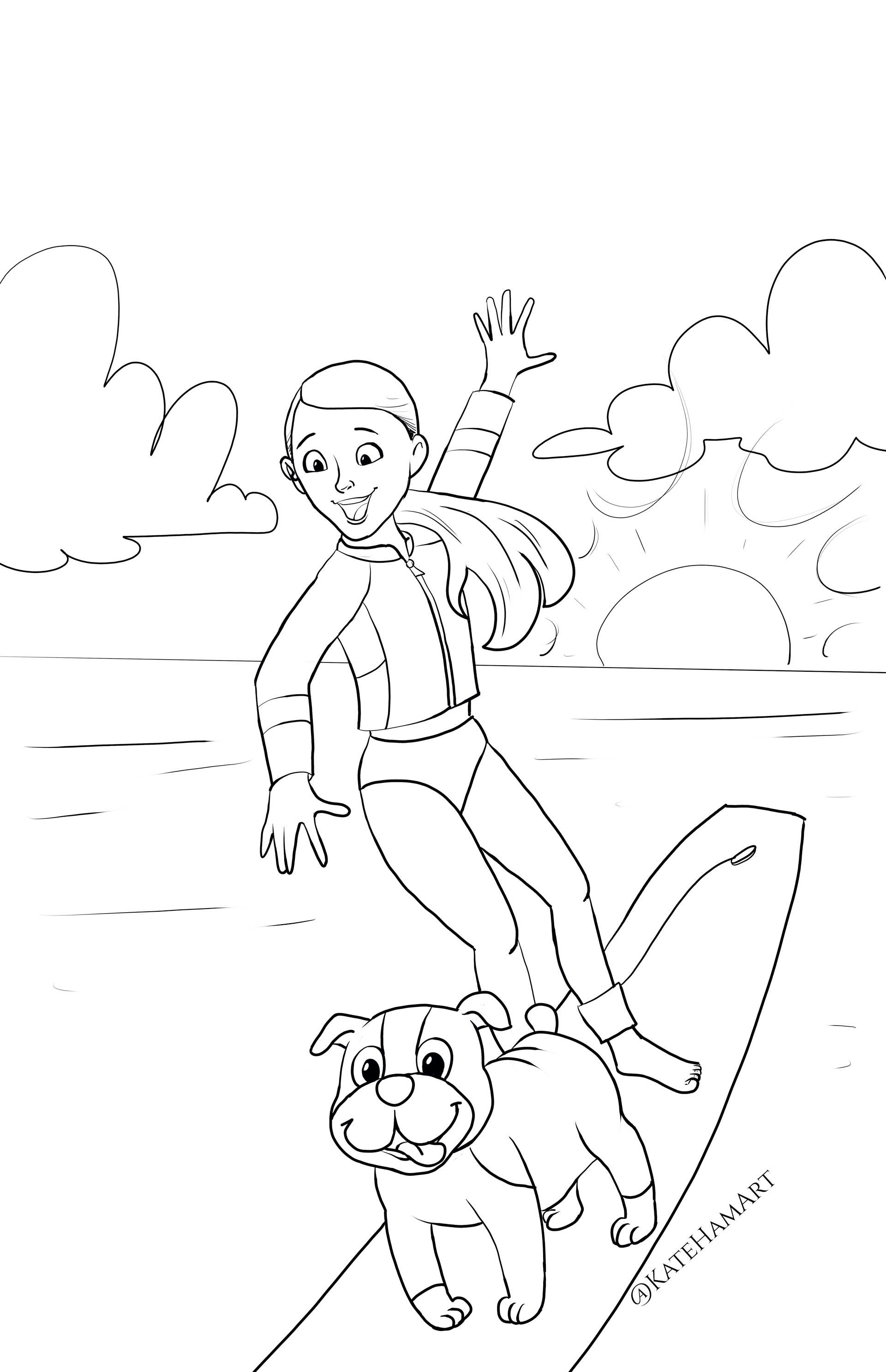 American Girl Doll Coloring Pages : american, coloring, pages, American, Kendrick, Printable, Coloring, Sheet
