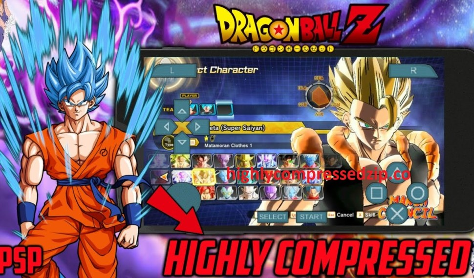 Dragon Ball z Highly Compressed PPSSPP Download