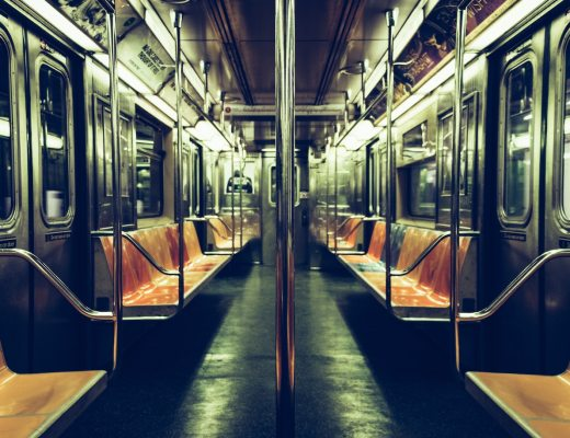An empty New York subway