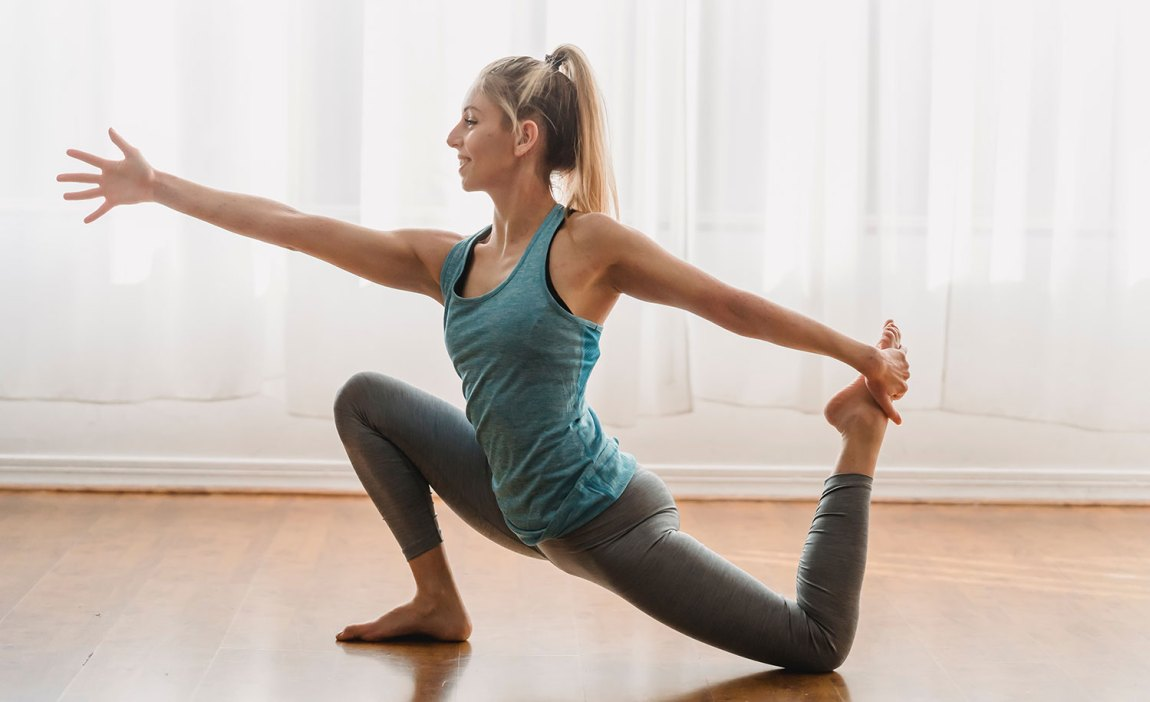 A highly sensitive person doing yoga