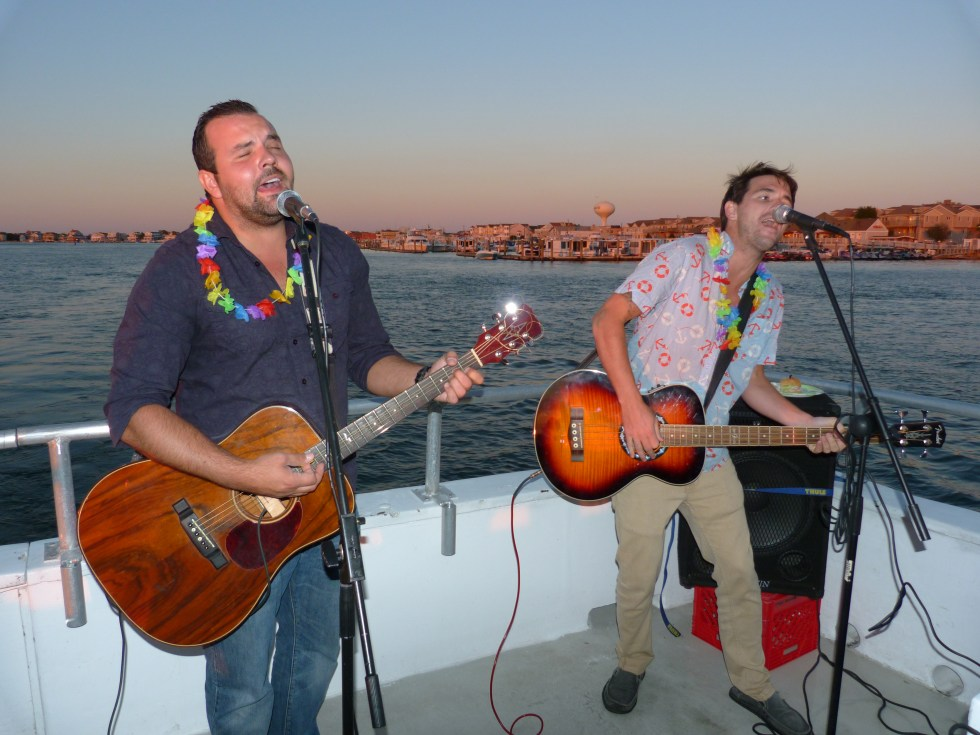 Steve Mullary of Deptford, N.J. and bassist Mike Barnes of Philadelphia by way of Ocean City perform during the Faces 4 Autism benefit cruise Sept. 6, 2013 in Margate. (Photo Shaun Smith)