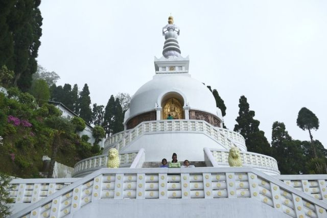 Japanese Peace Pagoda, one of the most visited spiritual places in Darjeeling