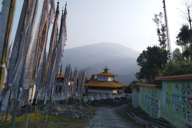 Kewzing Monastery situated within Kewzing Village