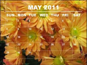 may 2011 calendar