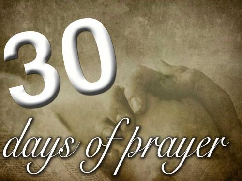 30 Days of Prayer
