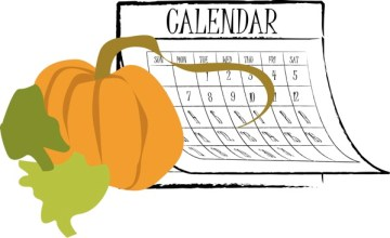 Autumn Calendar with Pumpkin abstract