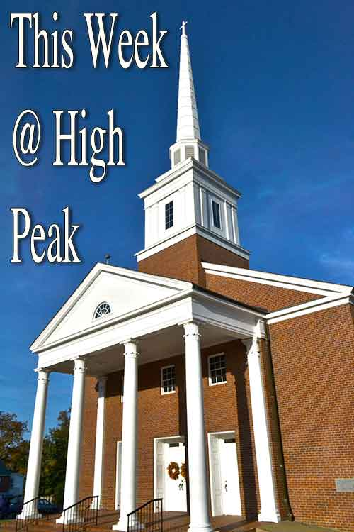 This Week @ High Peak