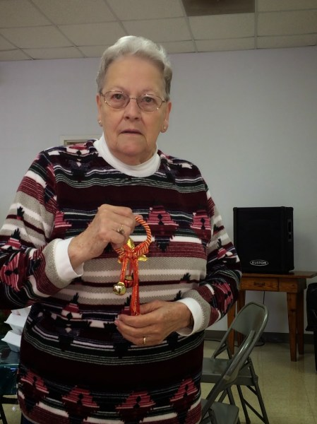 hazel dellinger at seniors christmas lunch
