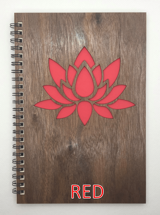 Red Wood Covered Notebook Design