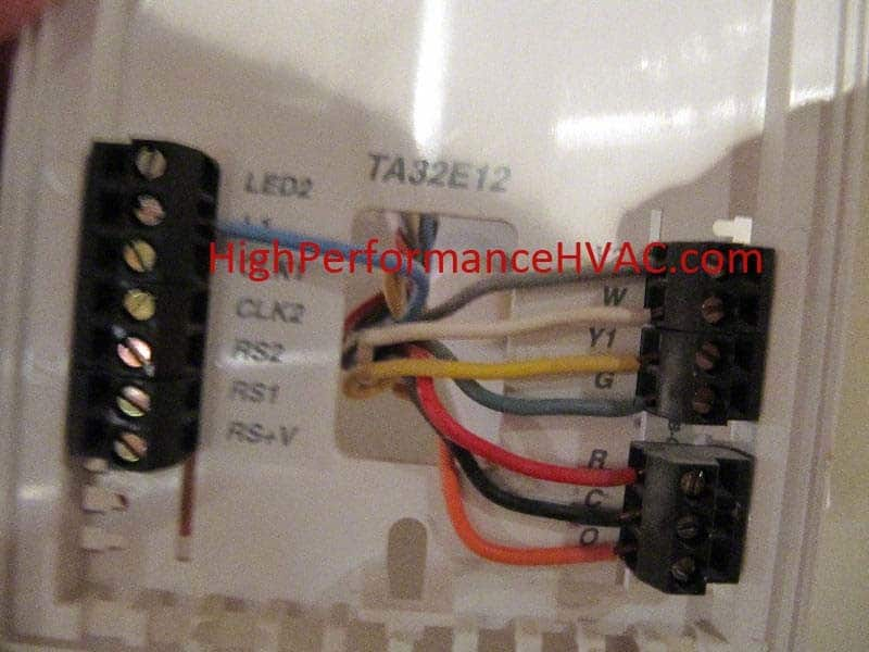 wiring diagram for thermostat with heat pump of dune formation basic colors - air conditioner systems