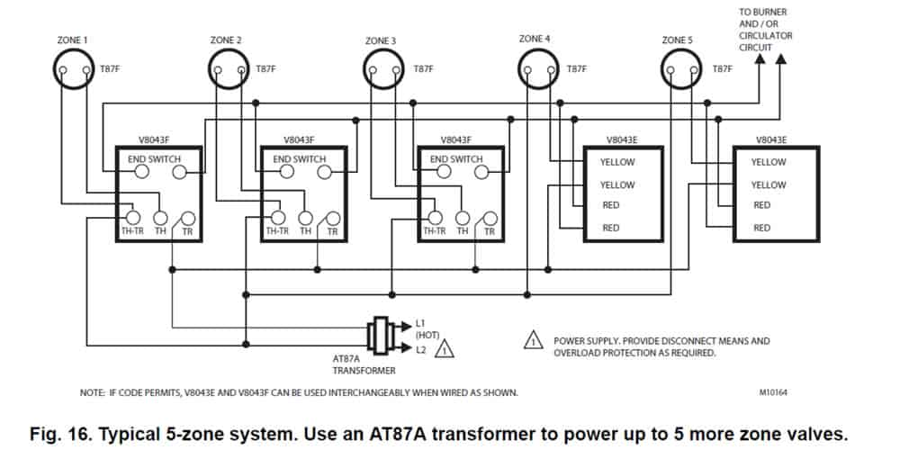 wiring diagram 5 zone valves