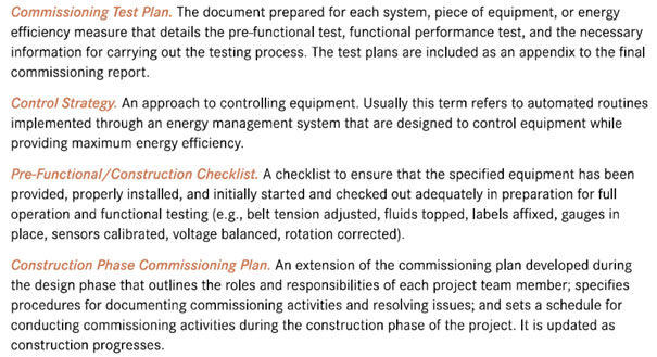 Reports, Training, and Checklists | Building Commissioning Benefits