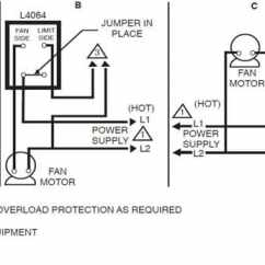 Fan Control Center Relay And Transformer Wiring Diagram 2 Zone Valve Honeywell Furnace Temperature Limit Switch Heating L4064