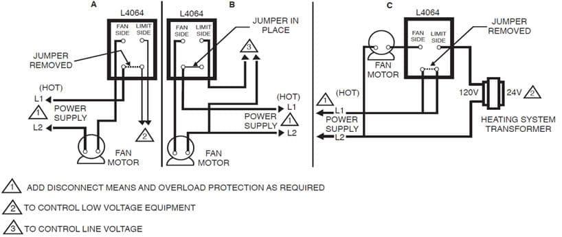 honeywell fan limit switch control high performance hvac heatingwiring diagram furnace temperature fan limit switch