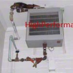Hot Water Unit Heater Protecting a Mechanical Room
