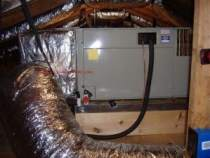 Common Air Handler Problems - Air Handling Unit installed in a tight attic.