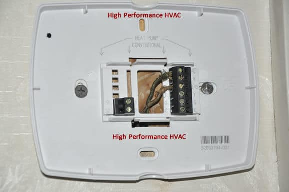 programmable thermostat wiring diagrams hvac control rh highperformancehvac com wiring a thermostat 2 wires wiring a thermostat 2 wires
