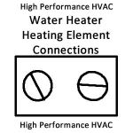 heating elements connections - no hot water