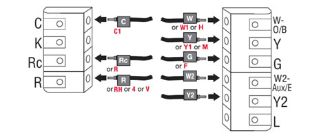honeywell thermostat wiring diagram two transformer wiring