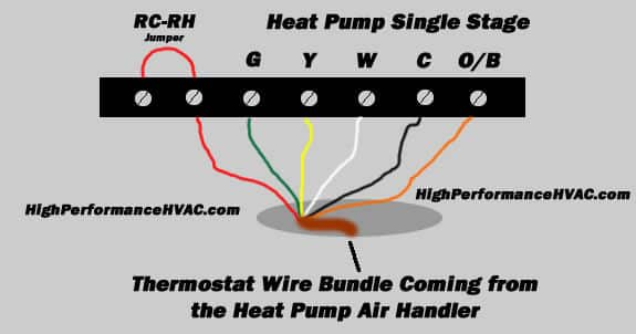 heat pump thermostat wiring diagram high performance hvac heating Arcoaire Heat Pump Wiring Diagram single stage heat pump wiring diagram