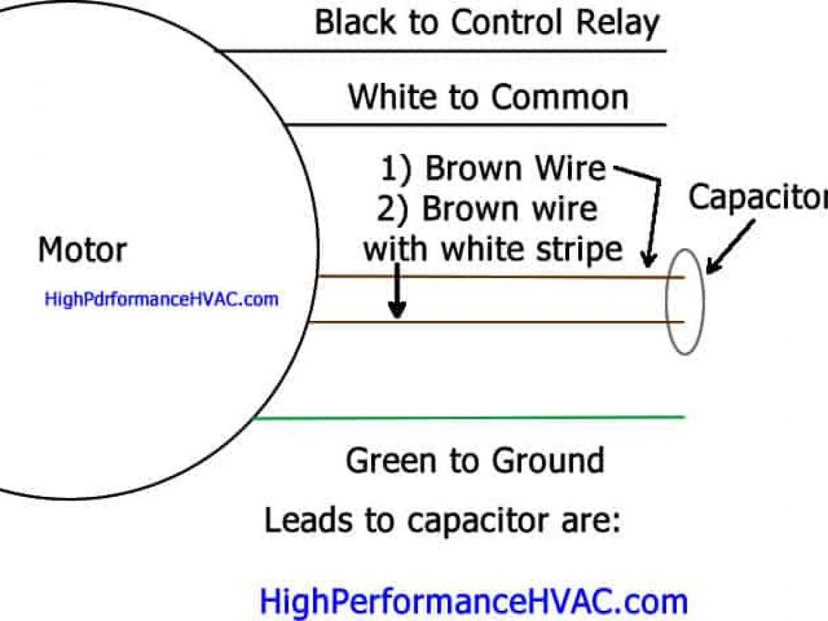 Capacitor Wiring Brown