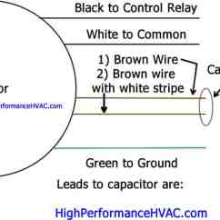 Single Phase Capacitor Start Induction Motor Connection Wiring Diagram 2005 Ford Explorer Stereo Two How To Wire A Run Blower U0026 Condenser Hvac Wiringsingle