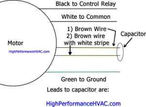 How to Wire a Run Capacitor to a Motor Blower & Condenser