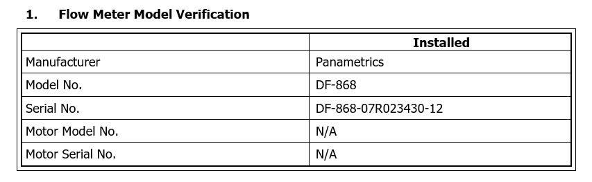 flow meter verification functional test script