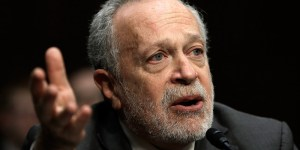 """WASHINGTON, DC - JANUARY 16:  Former U.S. Labor Secretary Robert Reich testifies before the Joint Economic Committee January 16, 2014 in Washington, DC. Reich joined a panel testifying on the topic of """"Income Inequality in the United States.Ó  (Photo by Win McNamee/Getty Images)"""