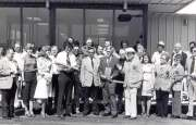 High Plains Museum | PM472MISC June 1977, ribbon cutting ceremony for the newly built Frontier Equity Co-op