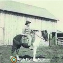 High Plains Museum | PM057FARM Paul Baker on Pinto Horse
