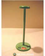 High Plains Museum | MC574 Green hat stand with rose and leaves.