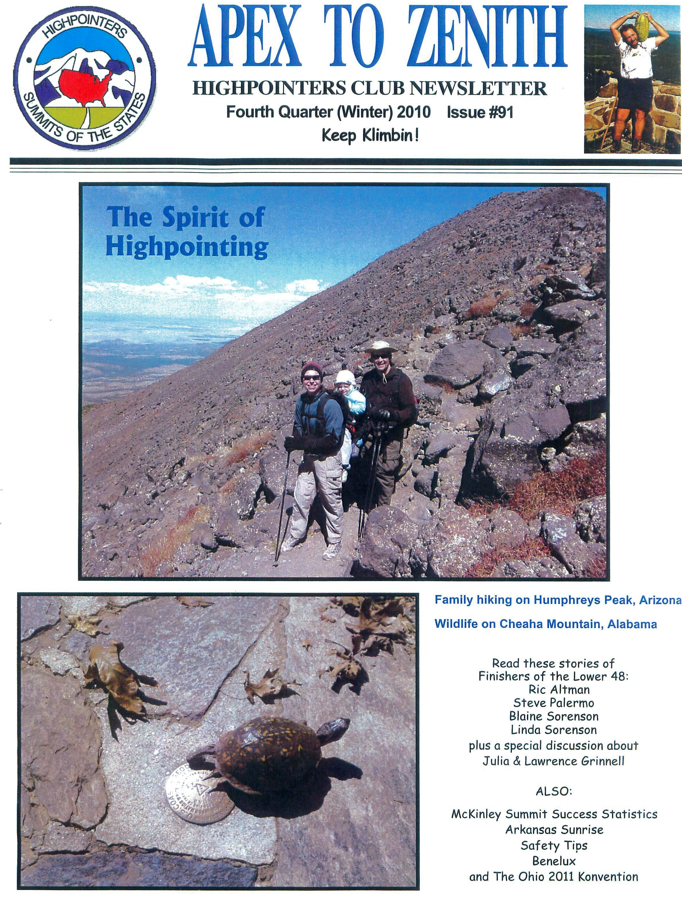 """Issue #91 of """"Apex to Zenith"""" Fourth Quarter 2010 